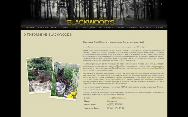 "Питомник ""blackwoods"" (Москва)"